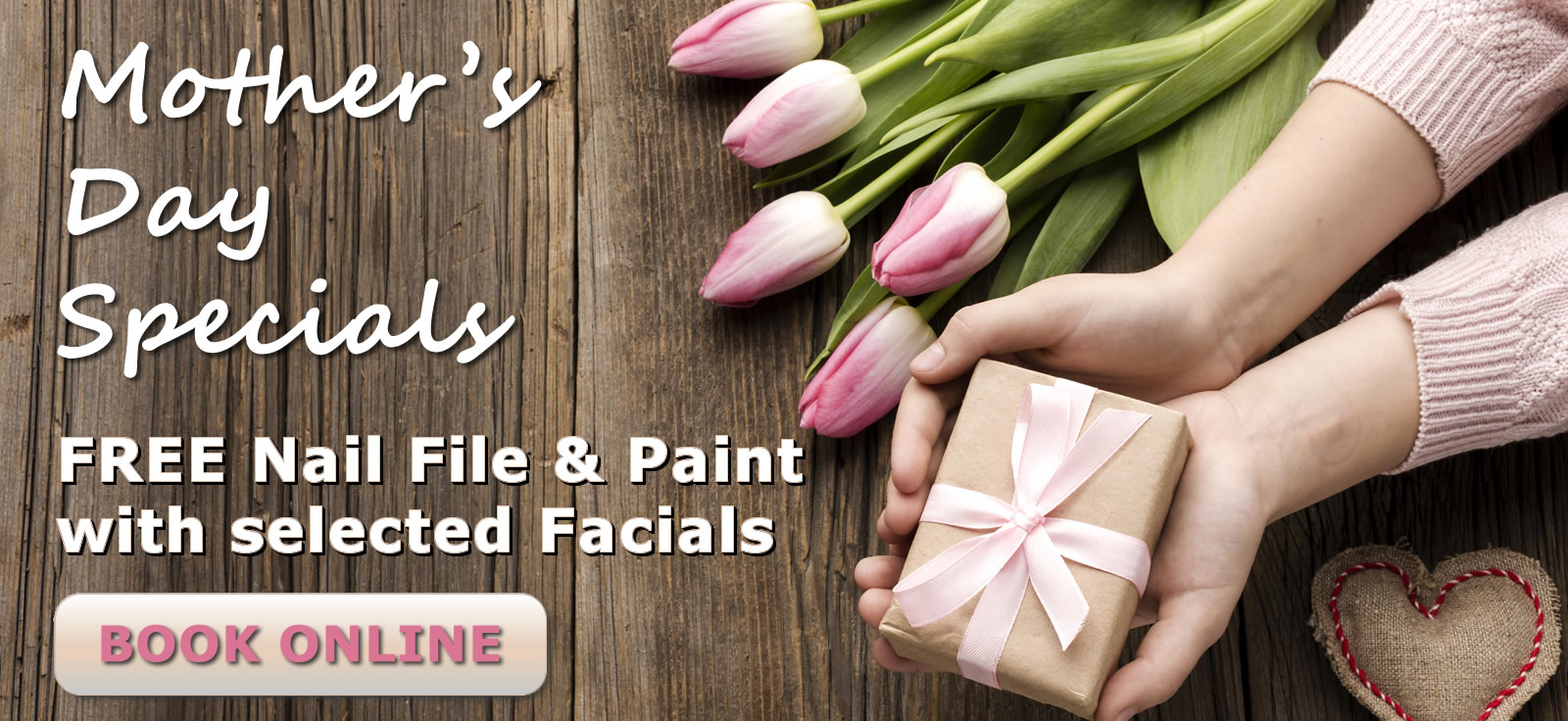 Mothers day offers Facials with free Nail file and Paint Gorey Wexford
